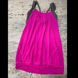 Lululemon hot pink/ gray workout top